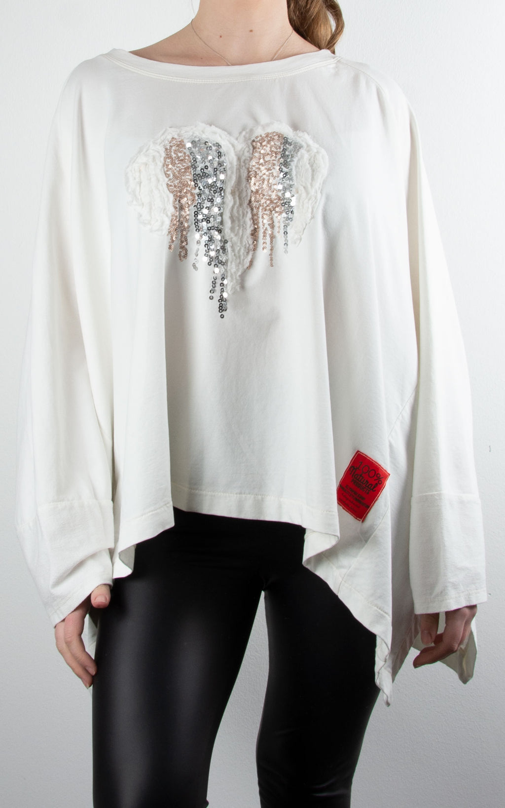 Oversized Heart Sweat | Winter White