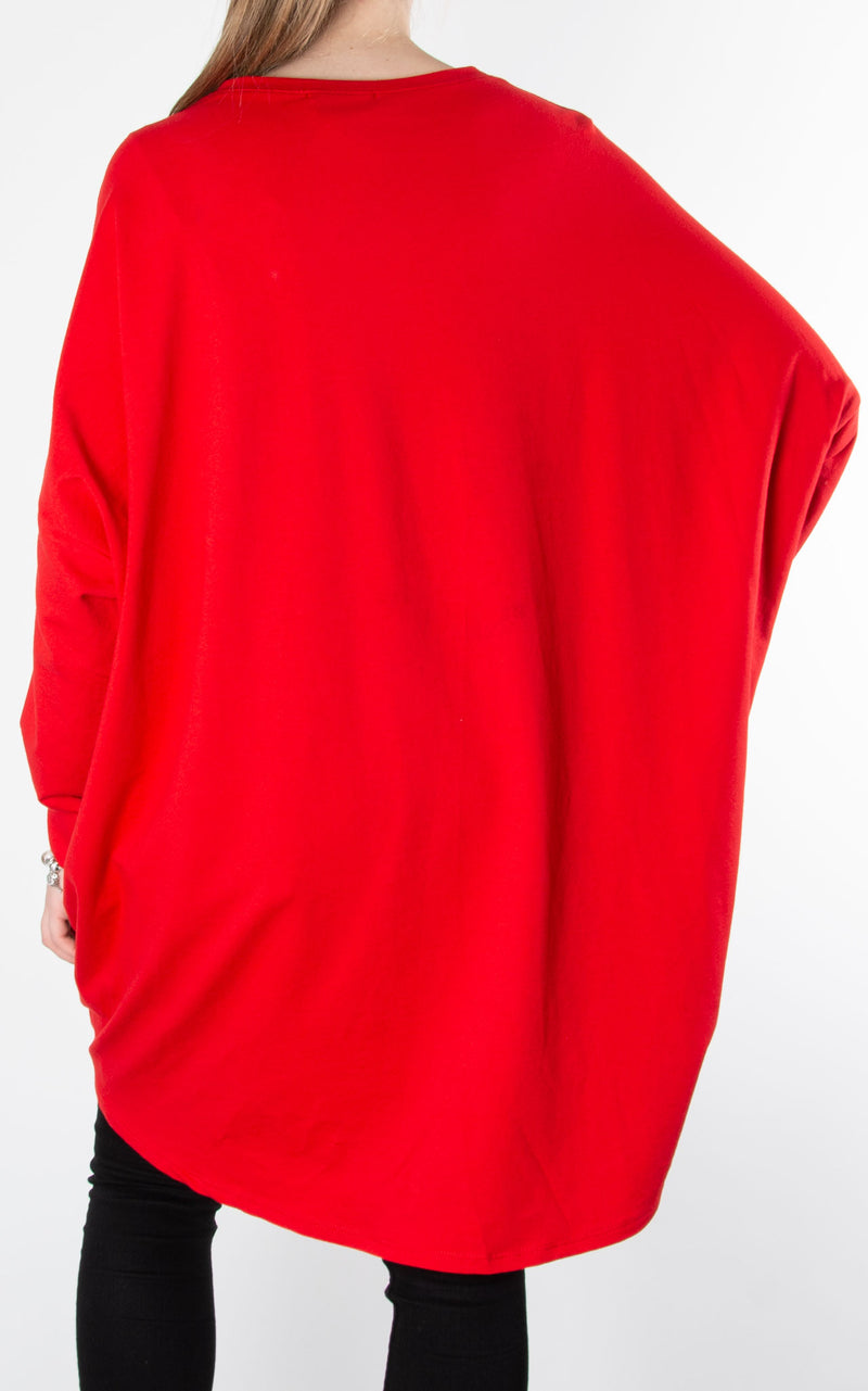 Paint Ribbon Sweat| Red