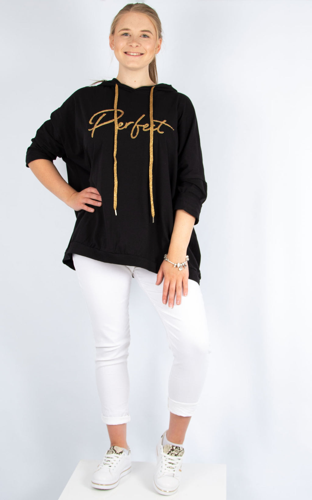 Layla Black Perfect Hoodie | Made in Italy