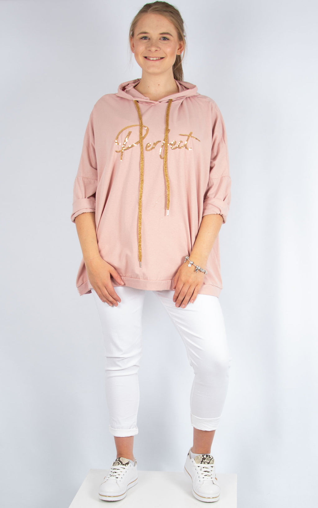 Layla Pink Perfect Hoodie | Made In Italy