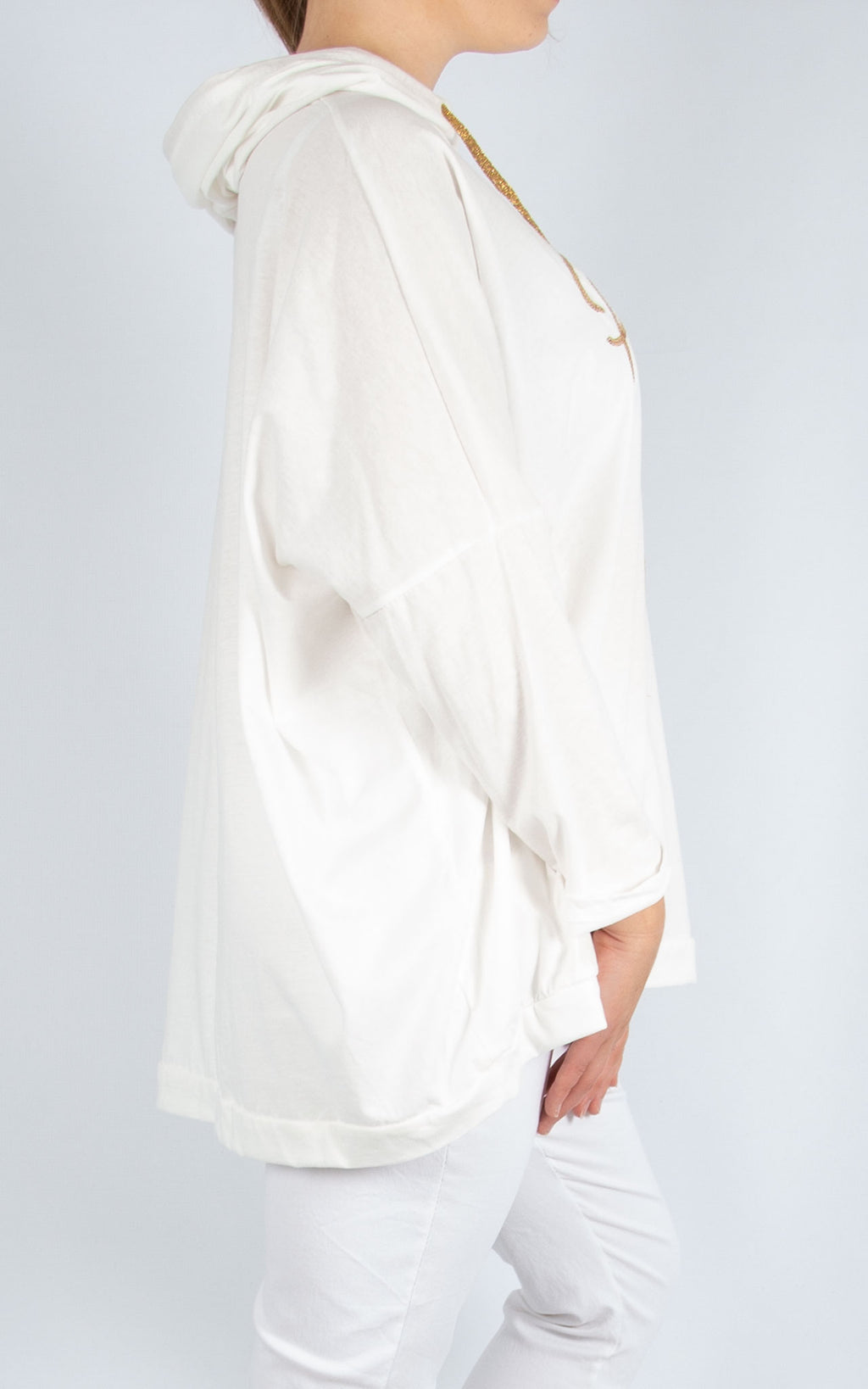 Layla White Perfect Hoodie | Made In Italy