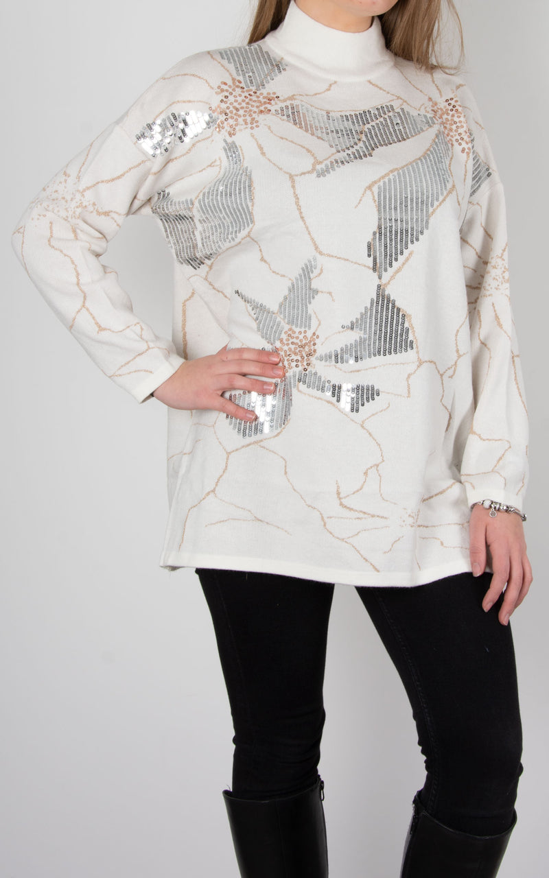 Petal Sequin Knit | Cream