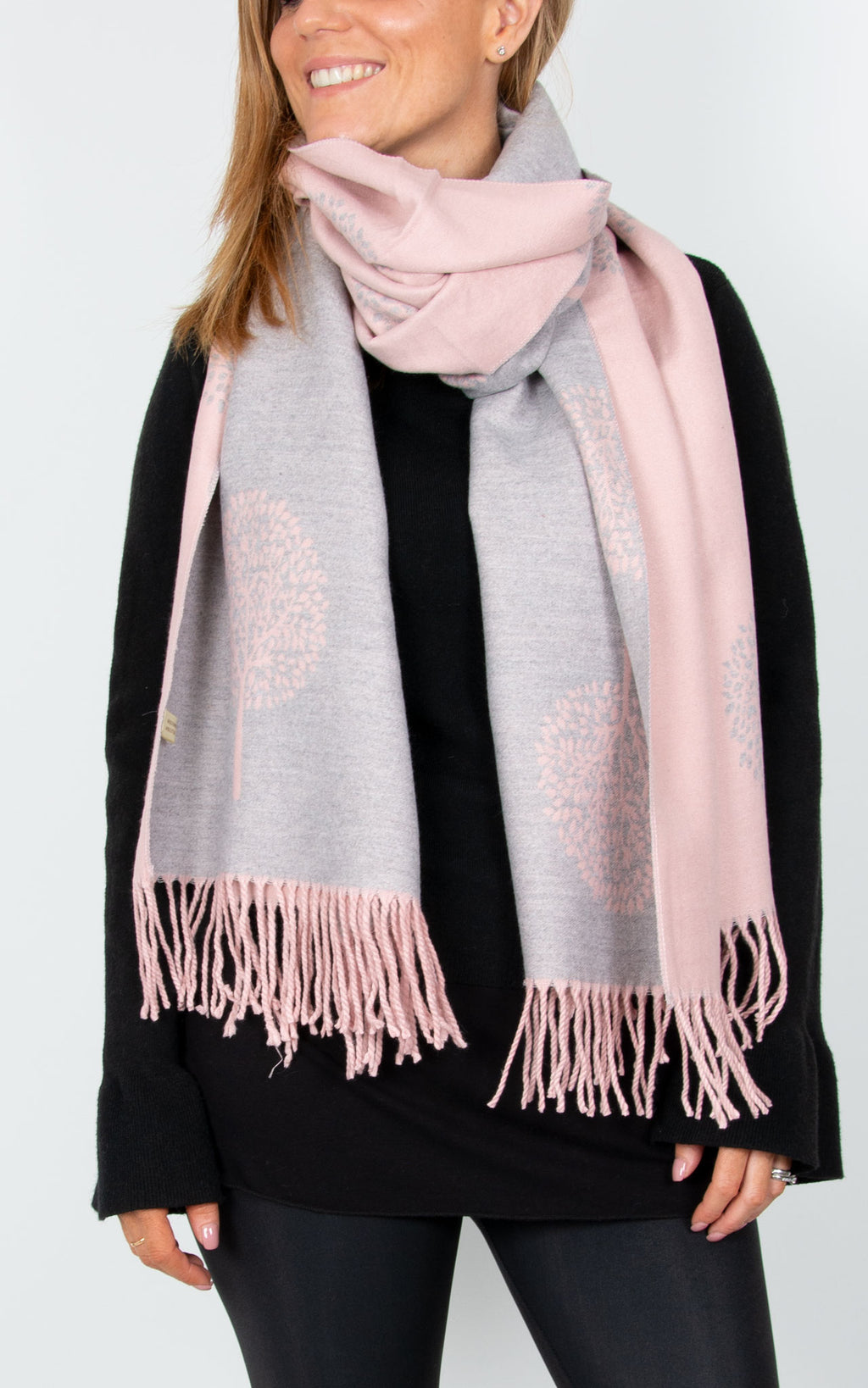 Pink Blanket Scarf - Mulberry tree