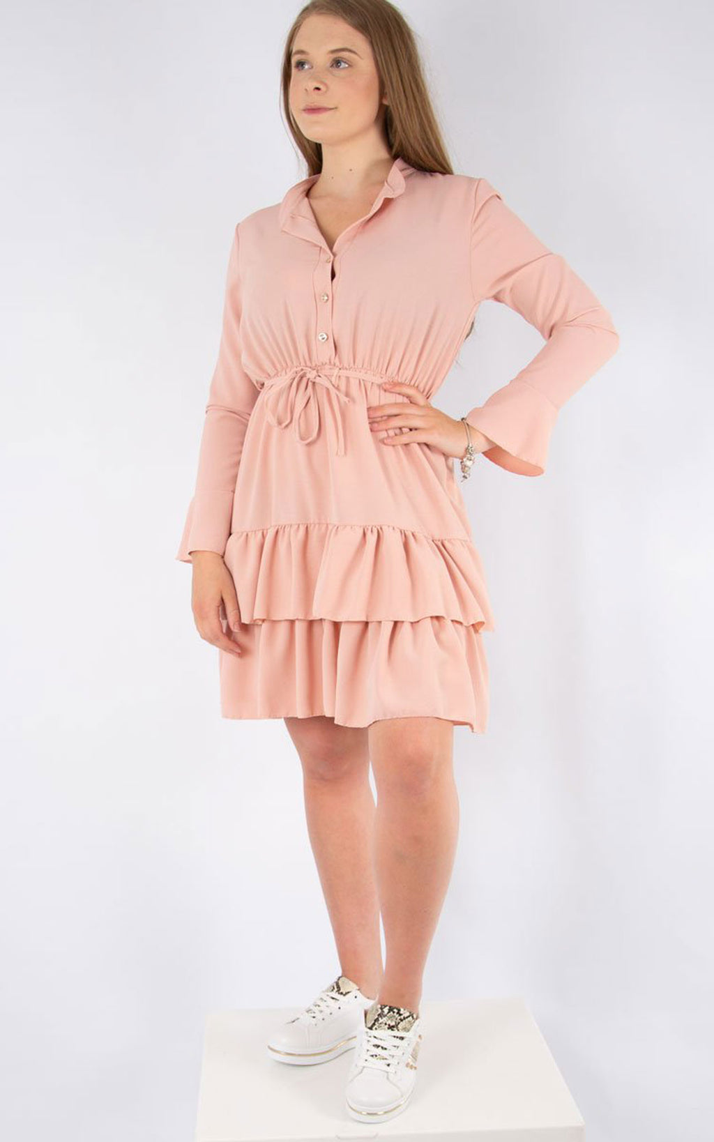 Plain Tea Dress | Pink