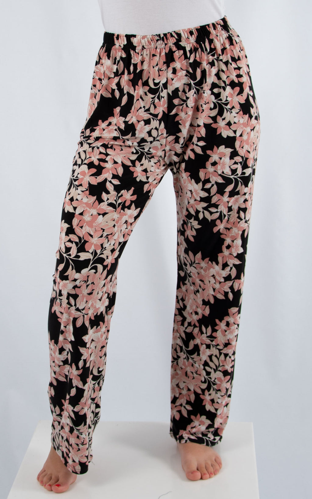 Pink Floral Patterned Trouser