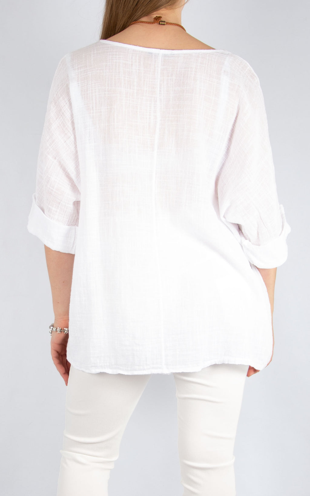 White Plain Cotton T | Made in Italy