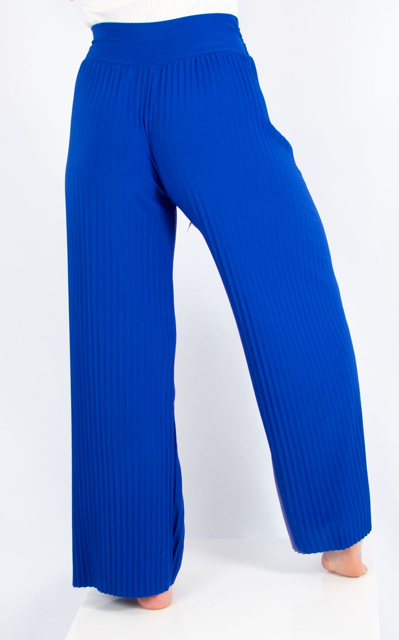 Cobalt pleated Trousers
