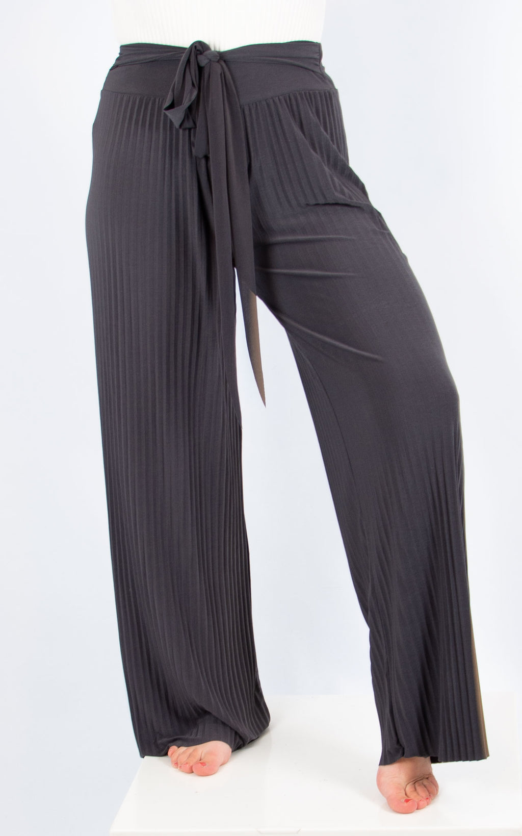 Dark grey Pleated Trousers