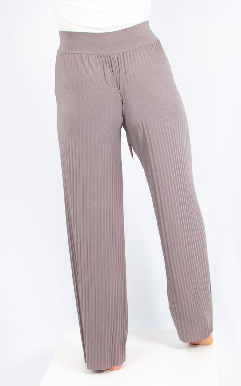 Light Grey Pleated Trousers
