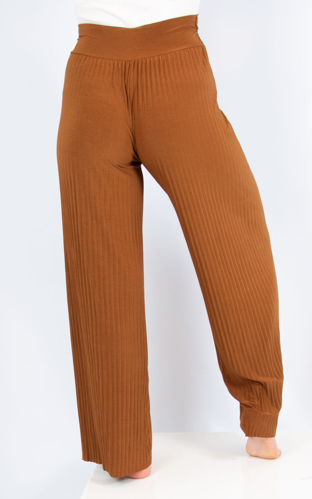 Brown Pleated Trousers