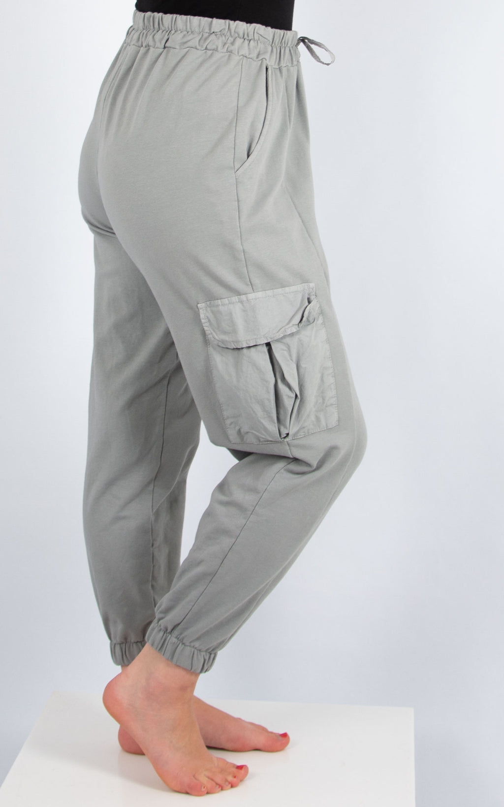 Grey Pocket Joggers | Made in Italy