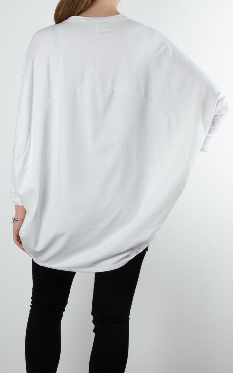 Print Face Sweat | Winter White