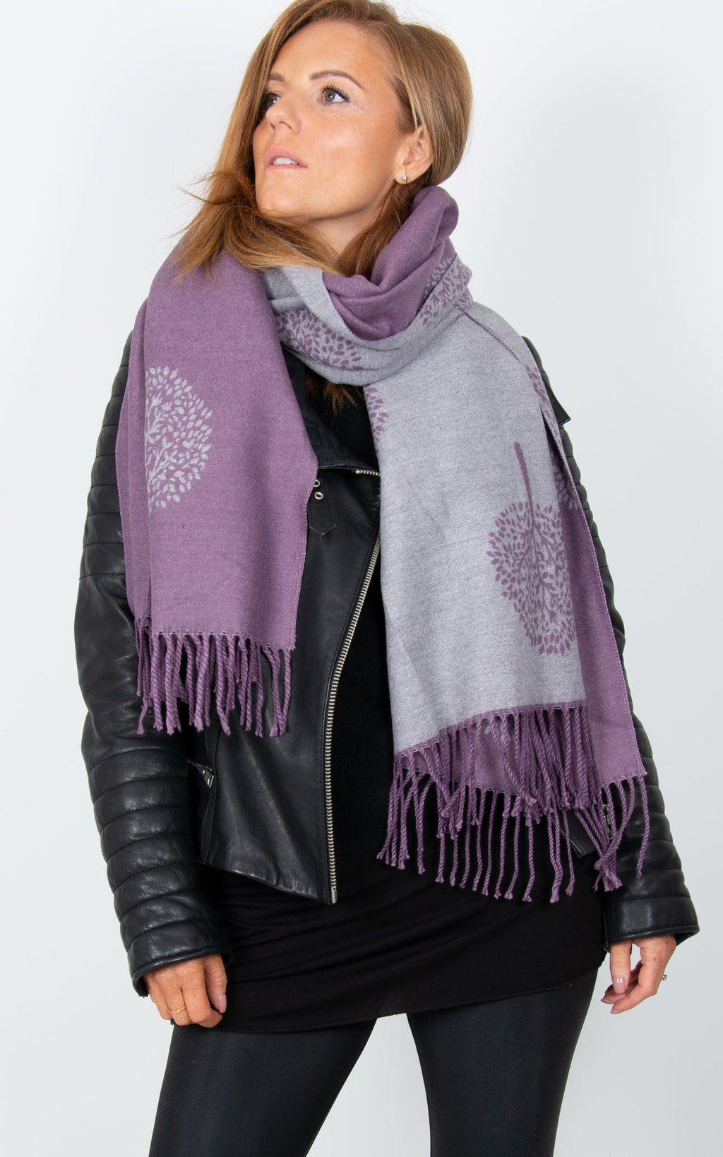 Purple Blanket Scarf - Mulberry Tree