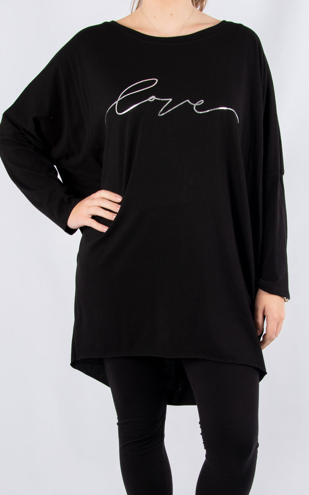 Rachel T Long Sleeve | Black Love