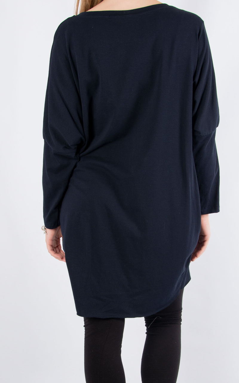 Rachel T Long Sleeve | Navy Love