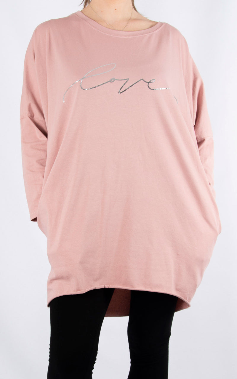 Rachel T Long Sleeve | Pink Love