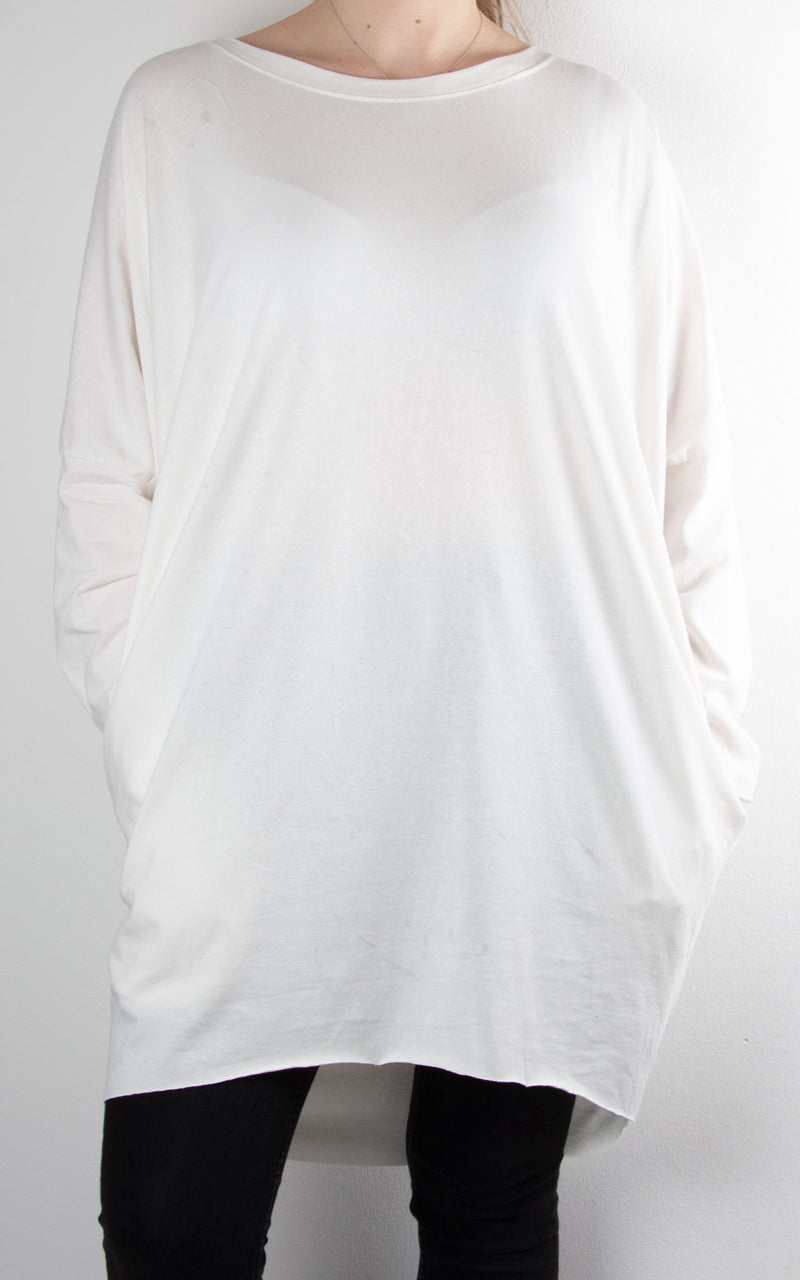 Rachel T Long Sleeve | Winter White