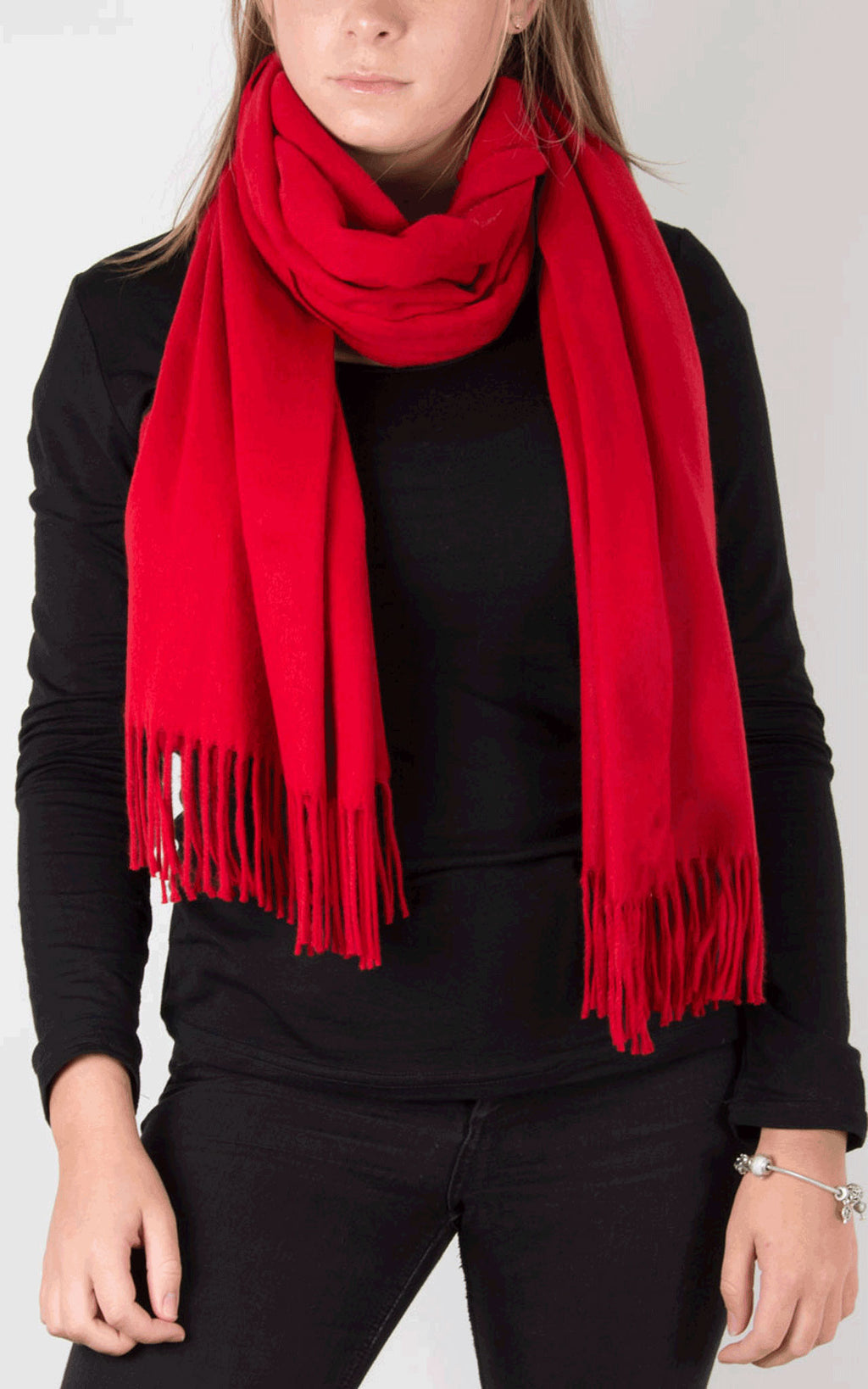 Blanket Scarf | Red