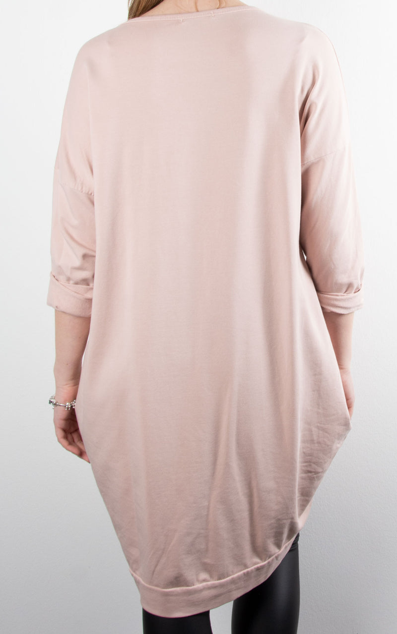Rock & Roll Sweat Tunic | Pink