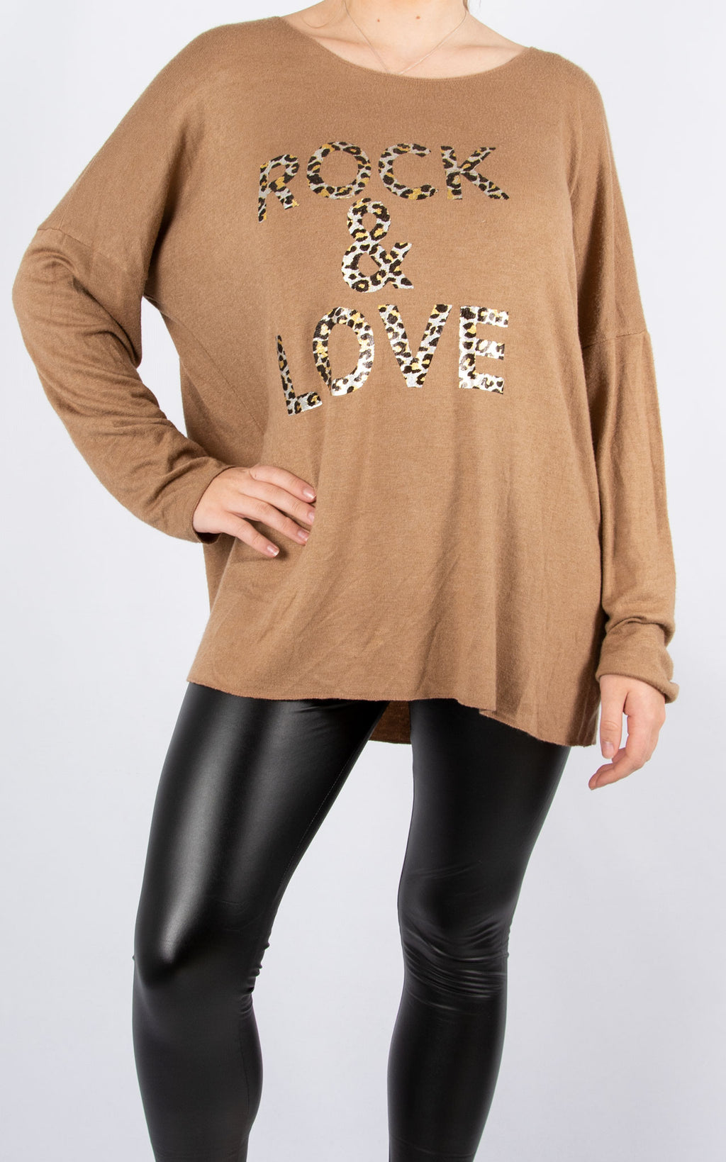 Rock & Love | Fine Knit Top | Tan
