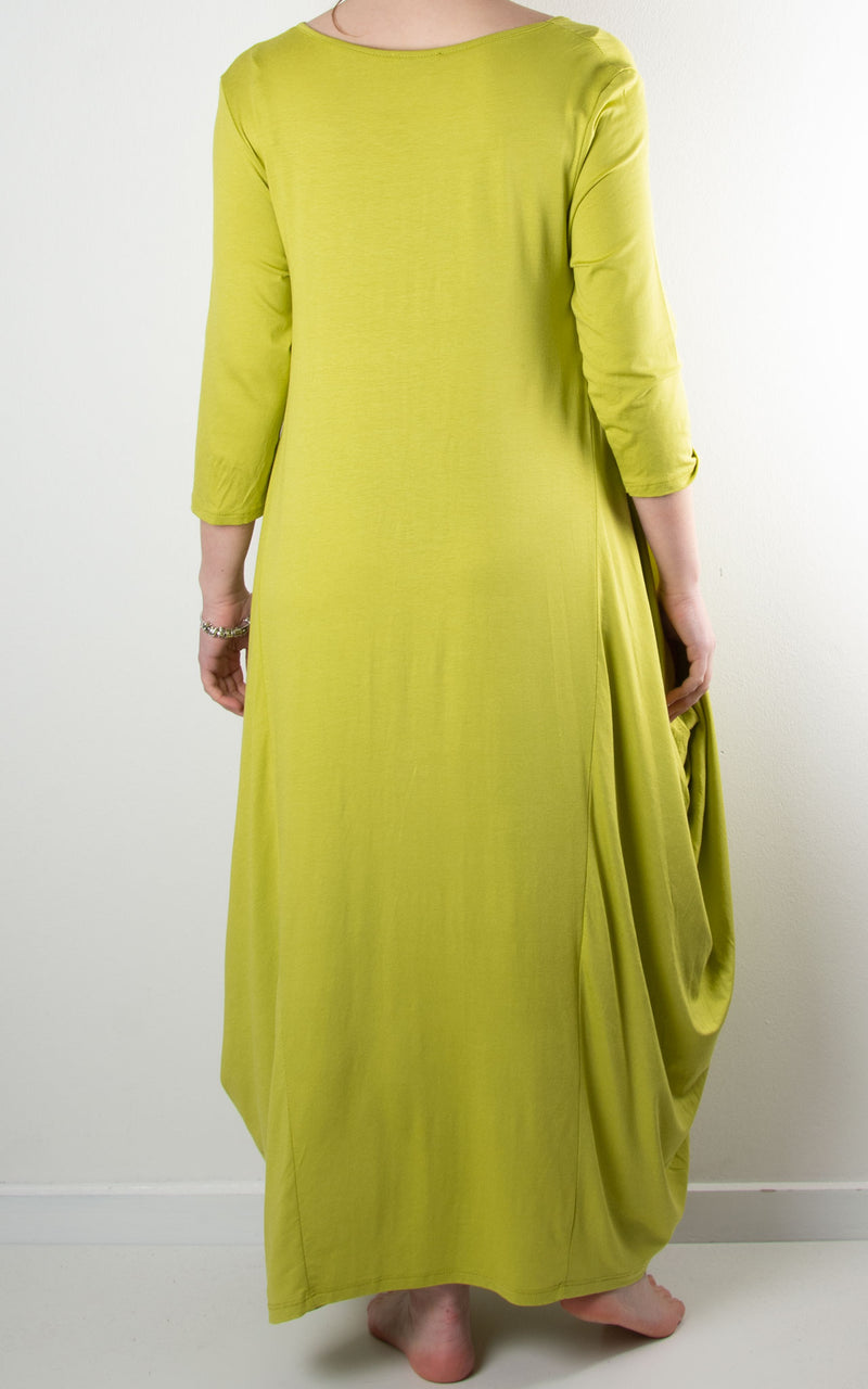 Rose Cocoon Dress | Lime