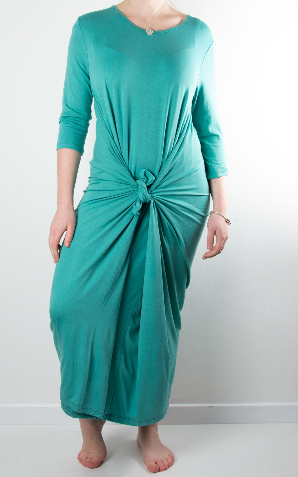 Rose Cocoon Dress | Turquoise