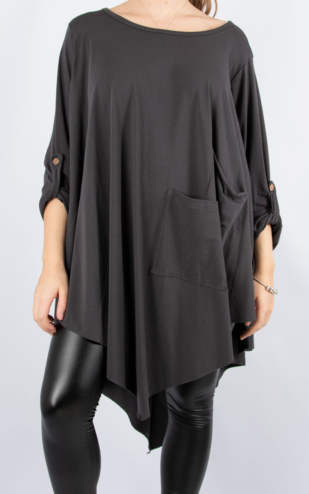 Sarah T | Long Sleeve | Charcoal