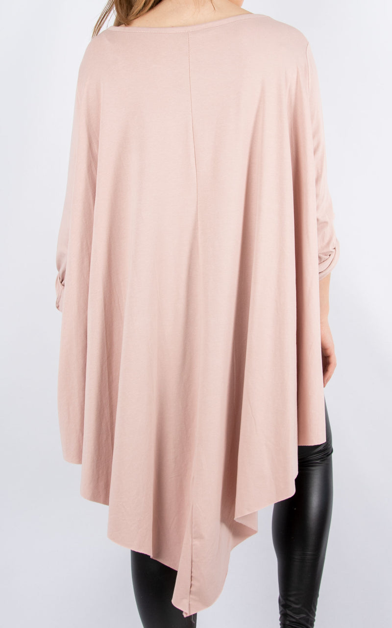 Sarah T | Long Sleeve | Dusky Pink