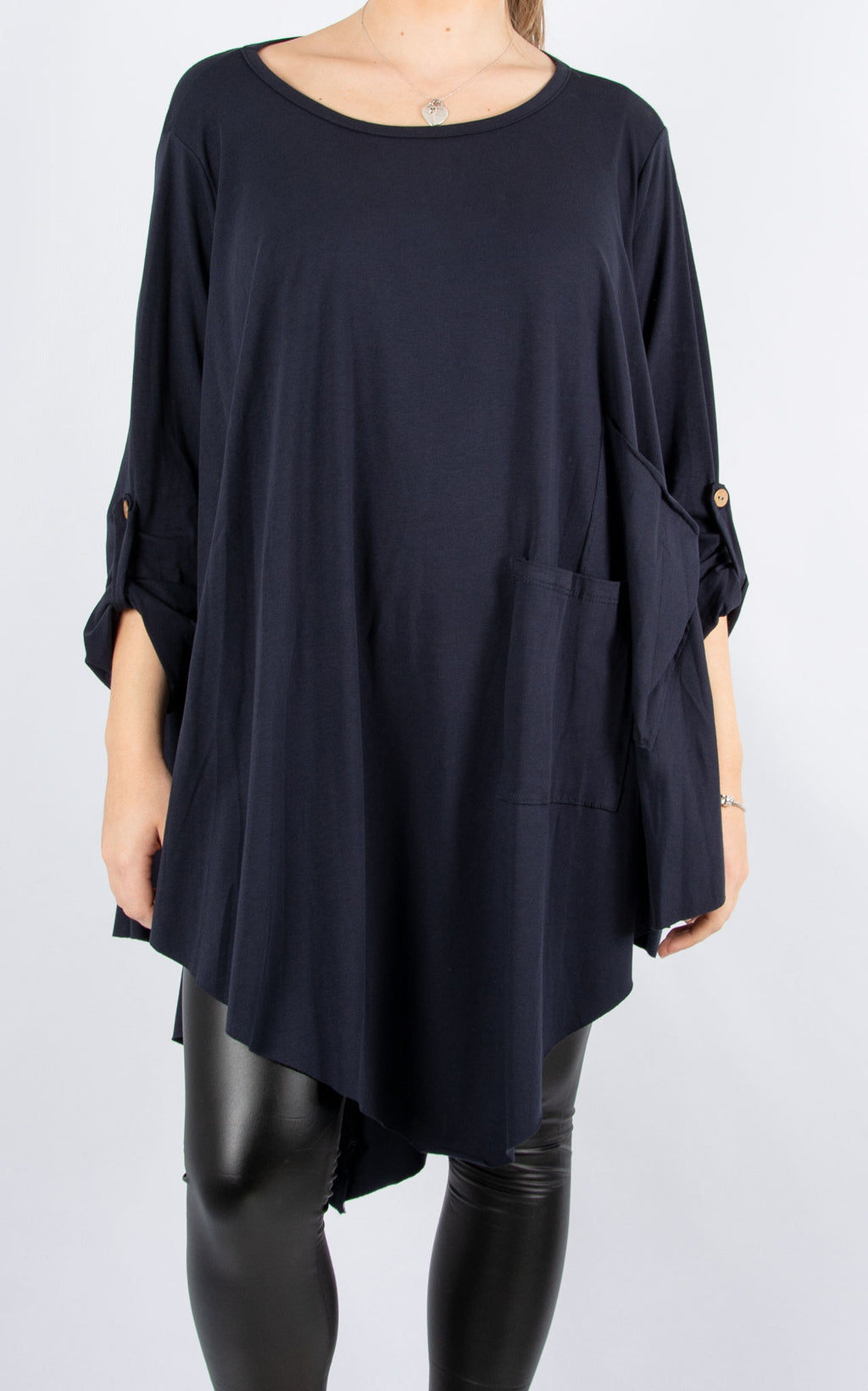Sarah T | Long Sleeve | Navy