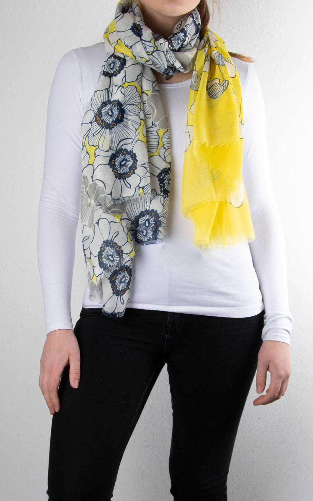 Scarf | Floral Shimmer | Yellow