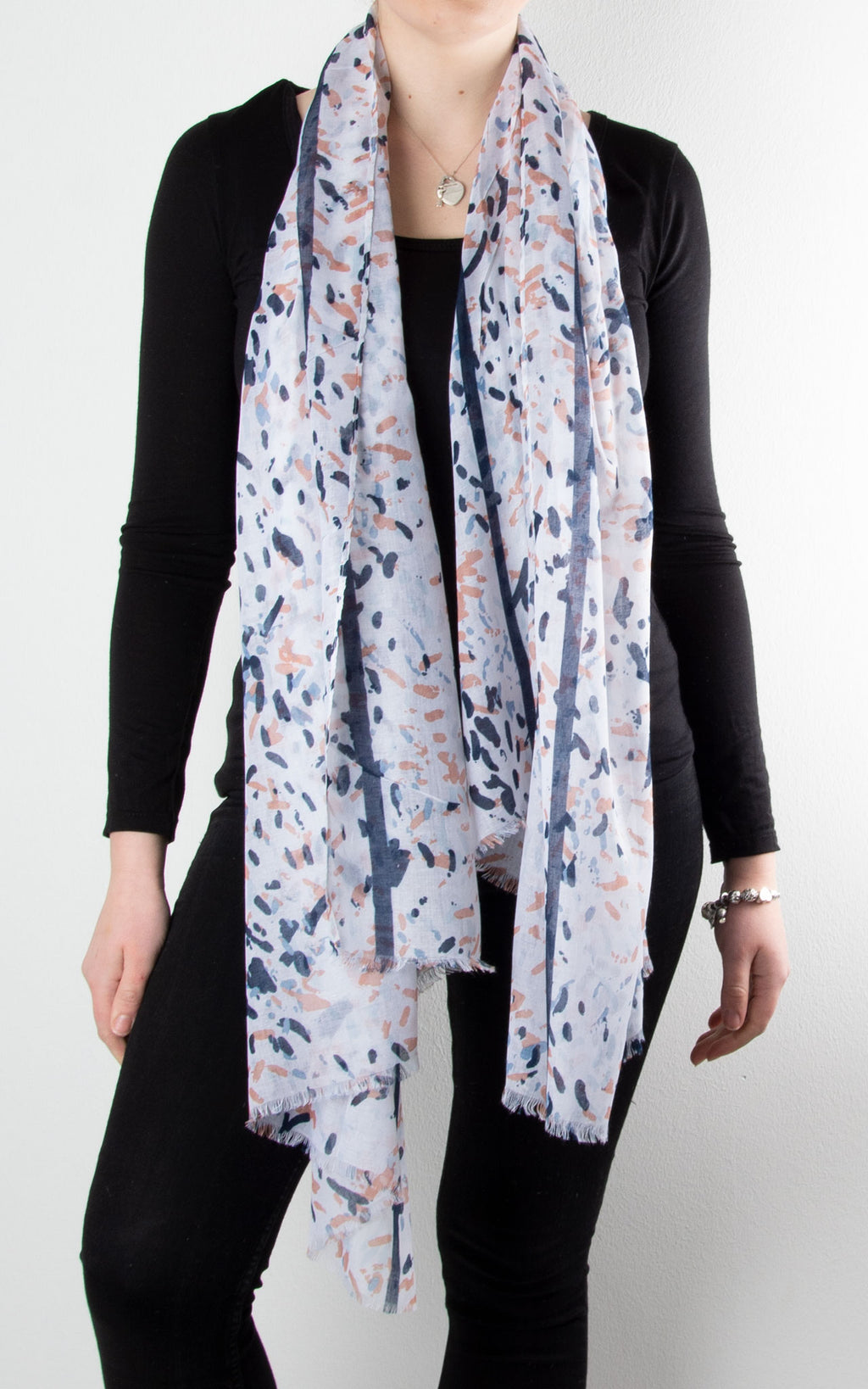 Scarf | Layered Splatter | Off White