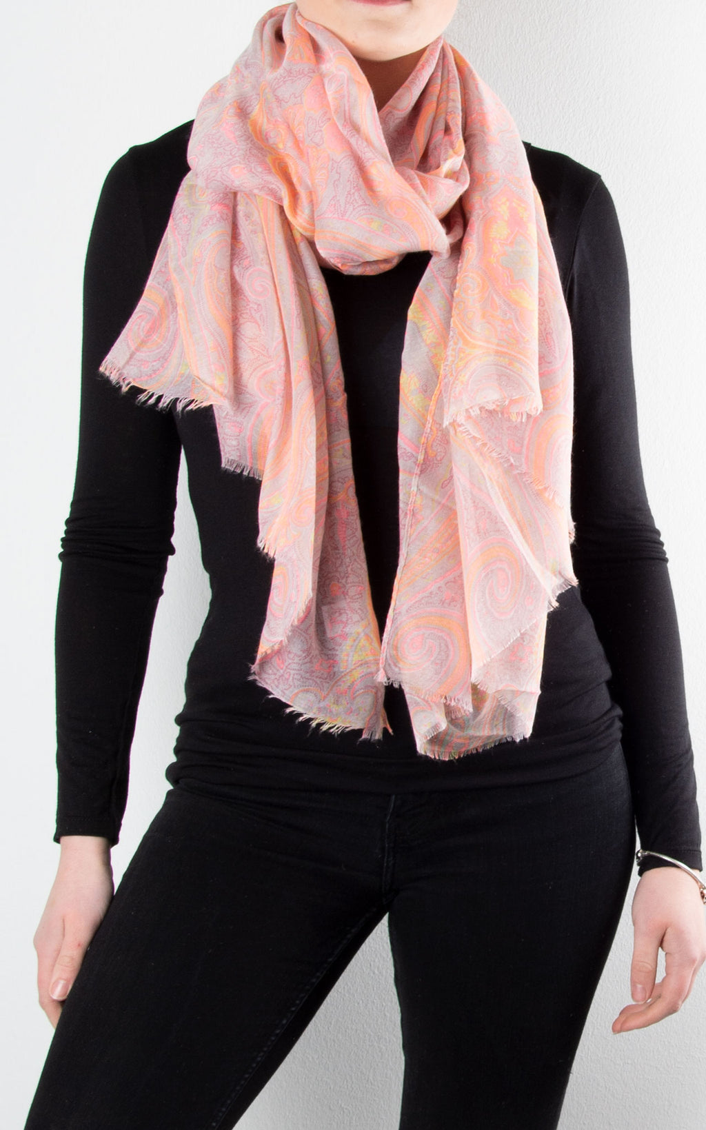 Scarf | Neon Paisley | Pink