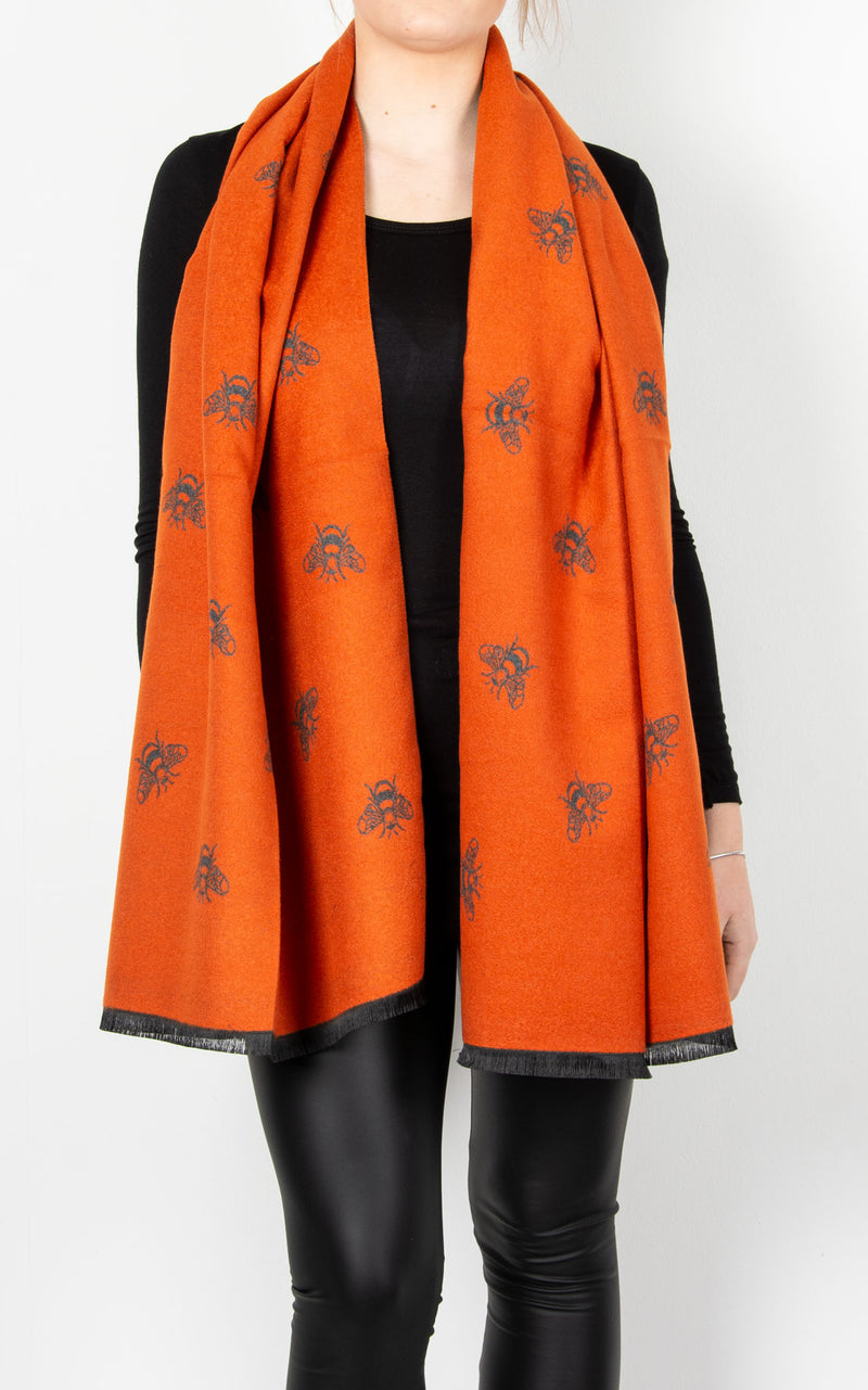 Scarf | Orange Bee