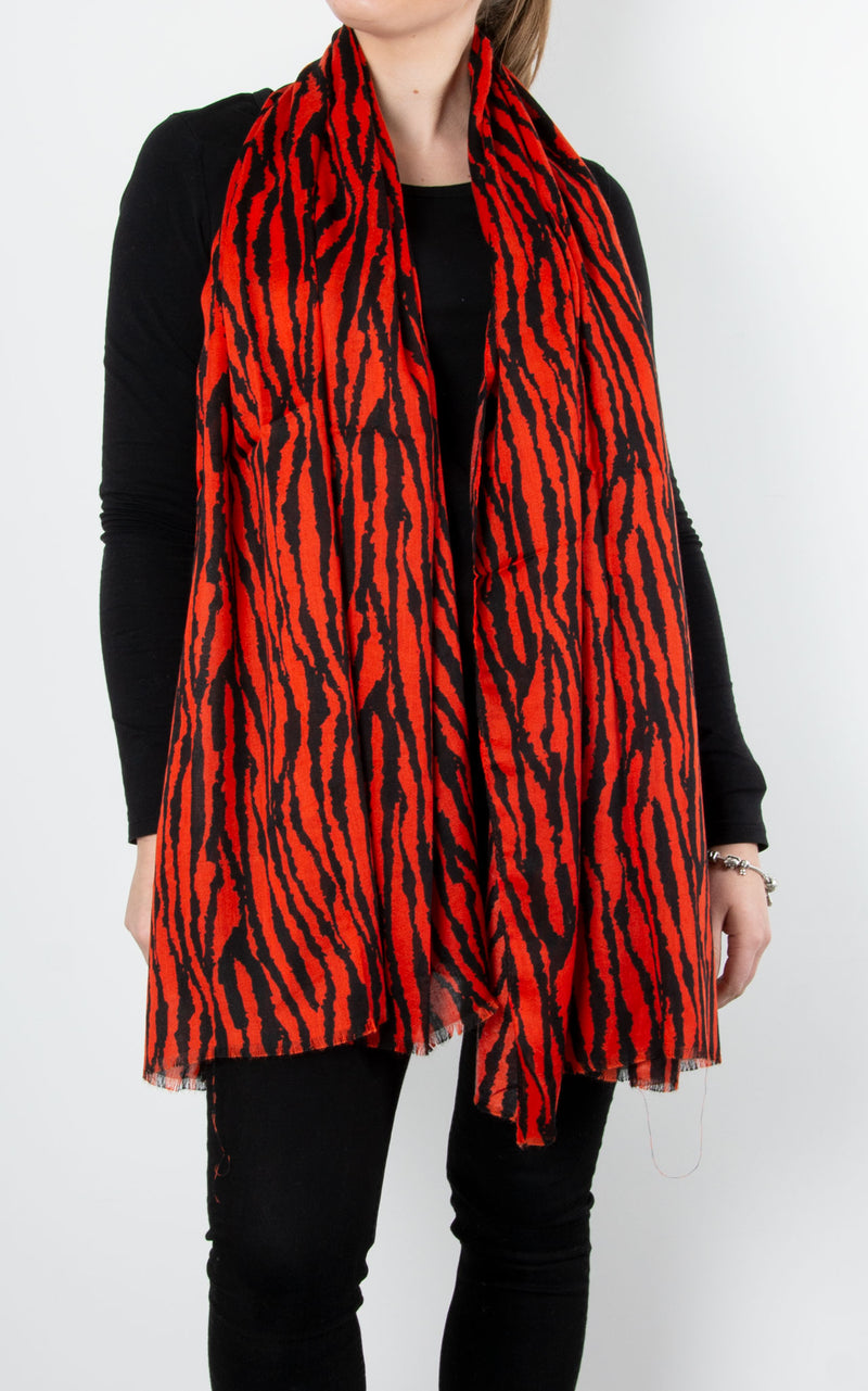 Scarf | Tiger | Red