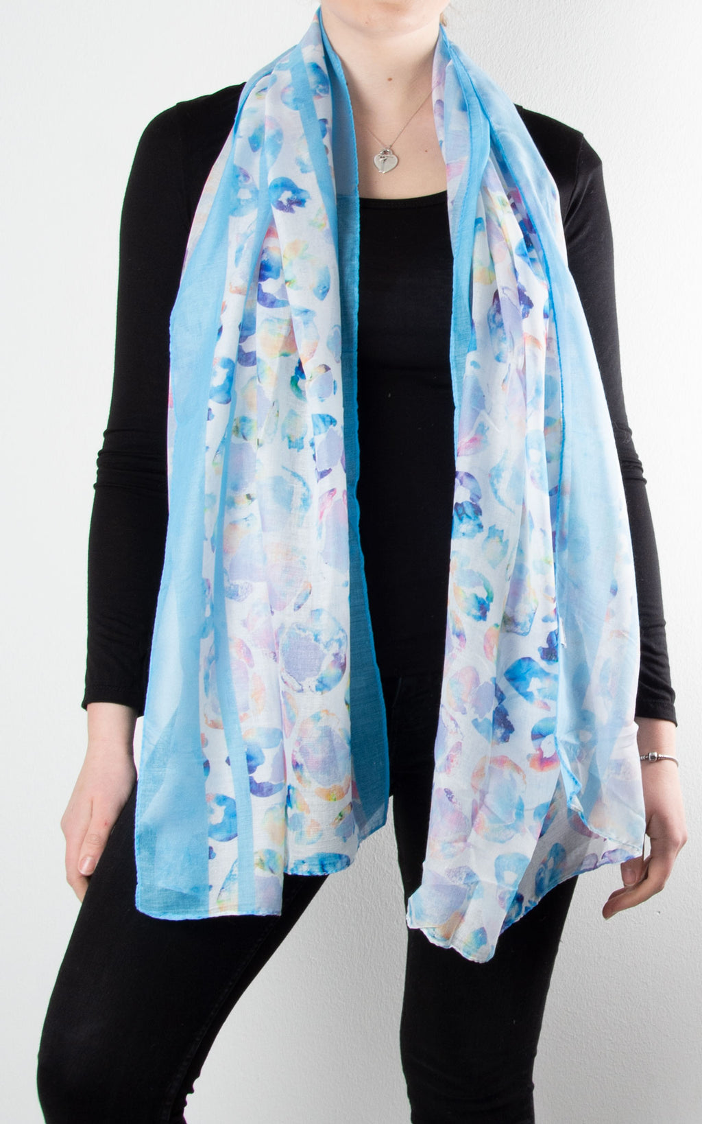 Scarf | Watercolour Splodge | Blue