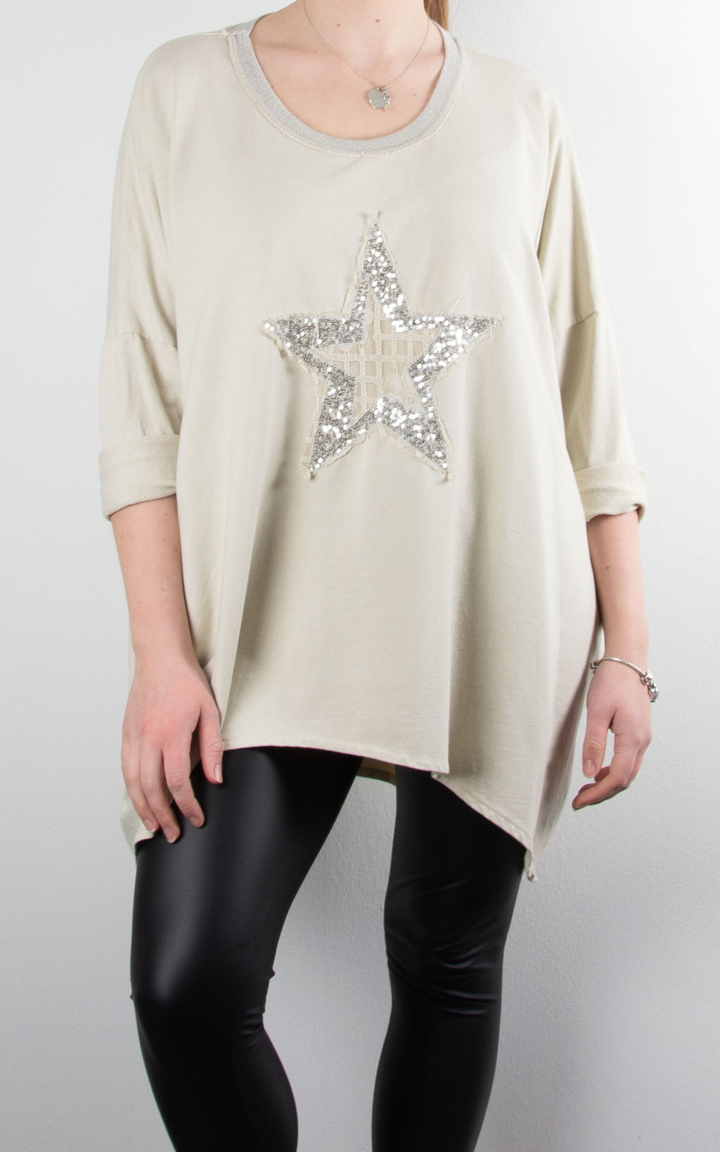Sequin Lace Star | Cream