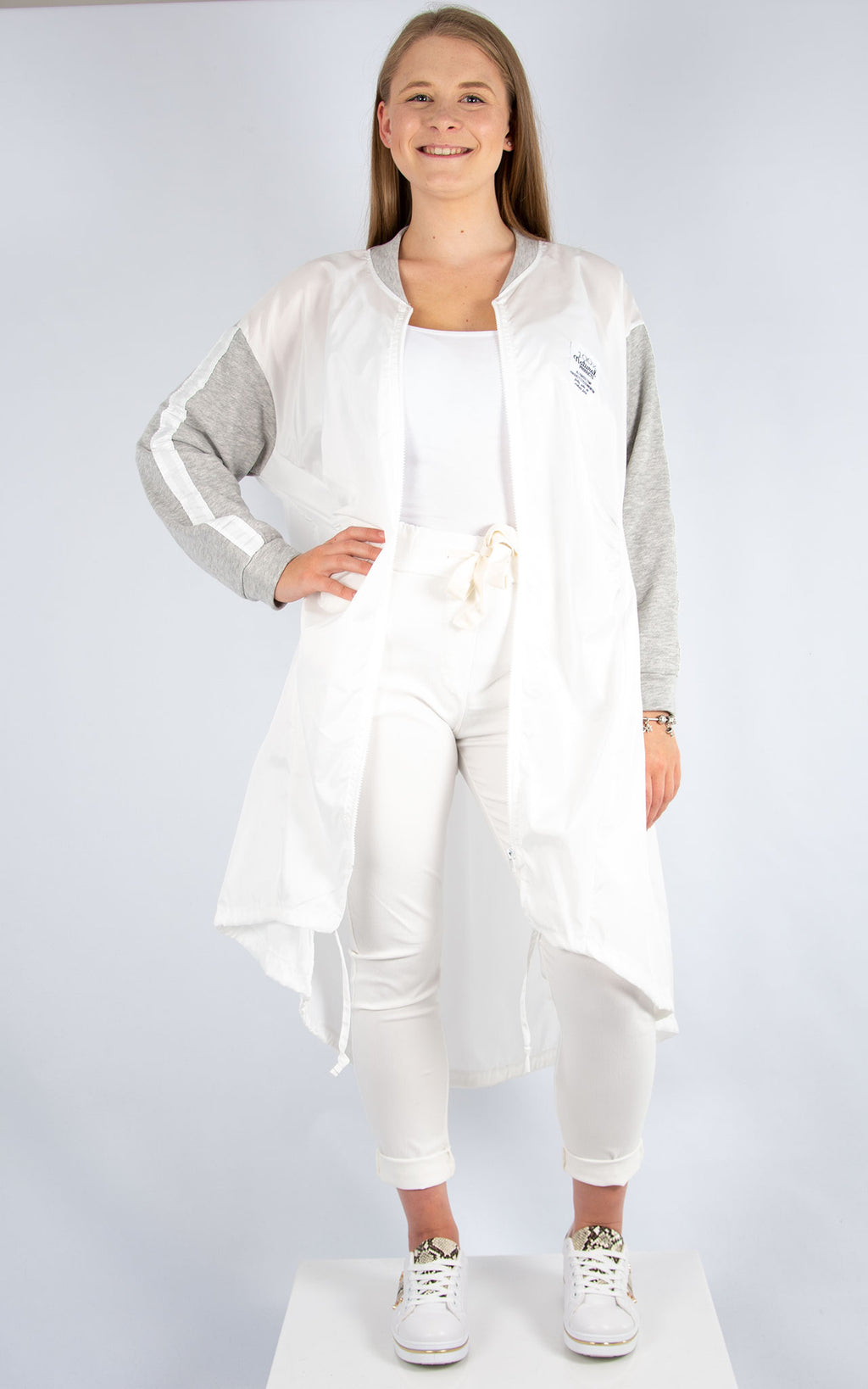 White Shell Jacket | Made in Italy