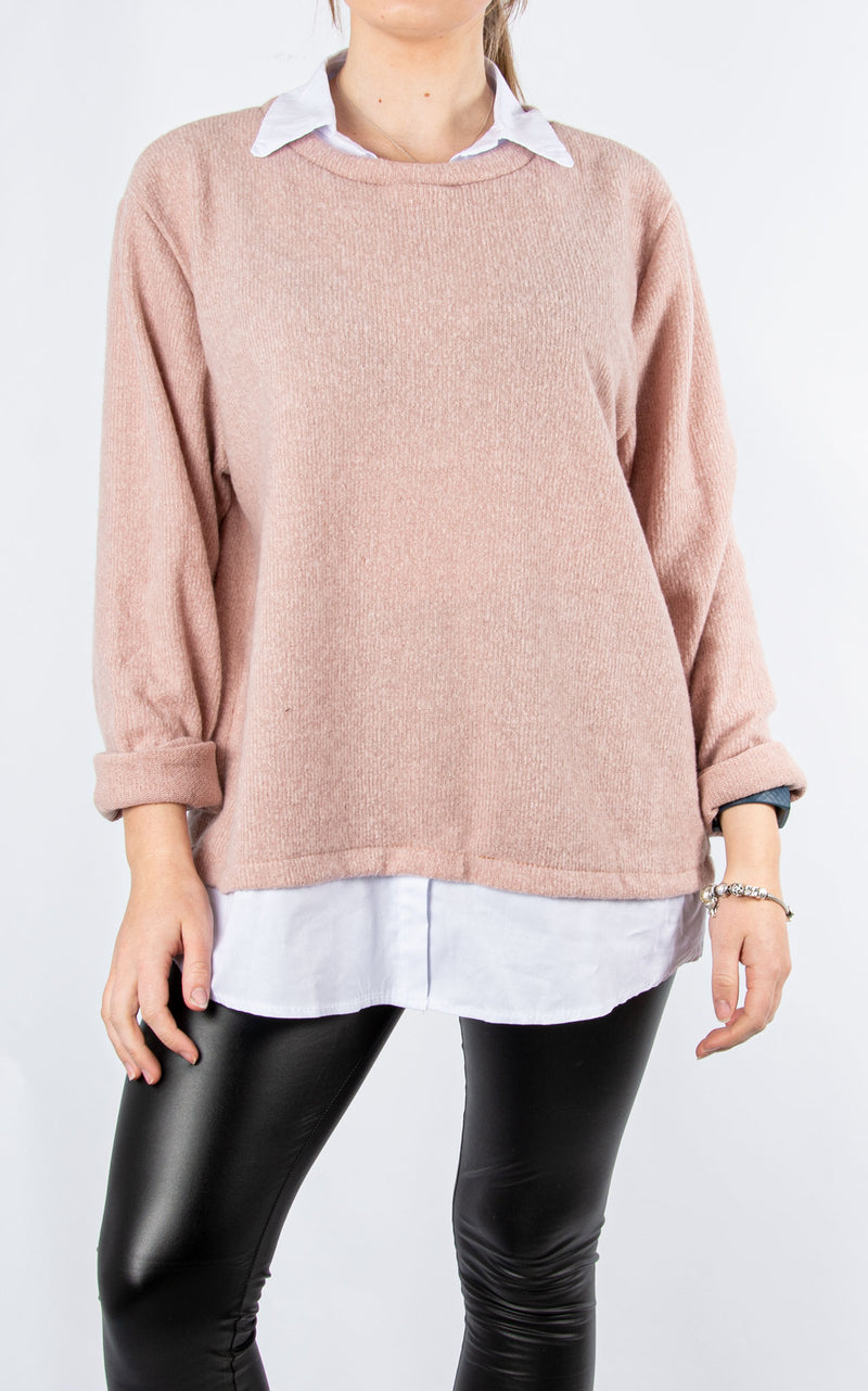 Shirt Jumper | Pink