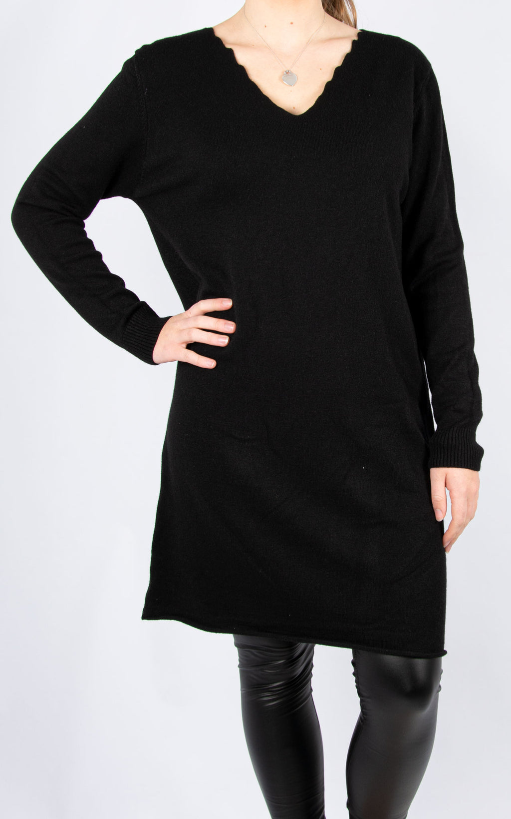 Simple Knit Dress | Black