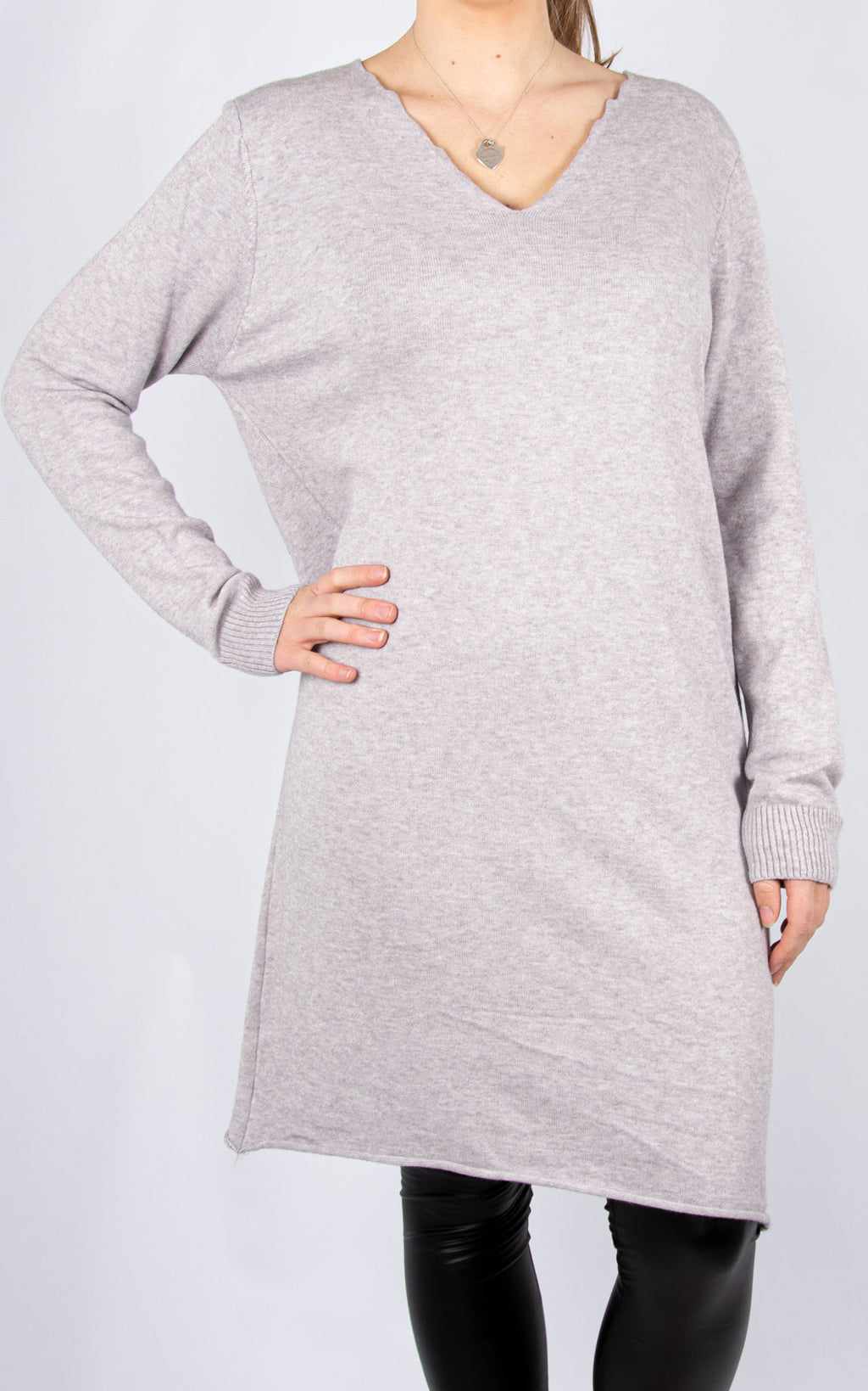 Simple Knit Dress | Grey