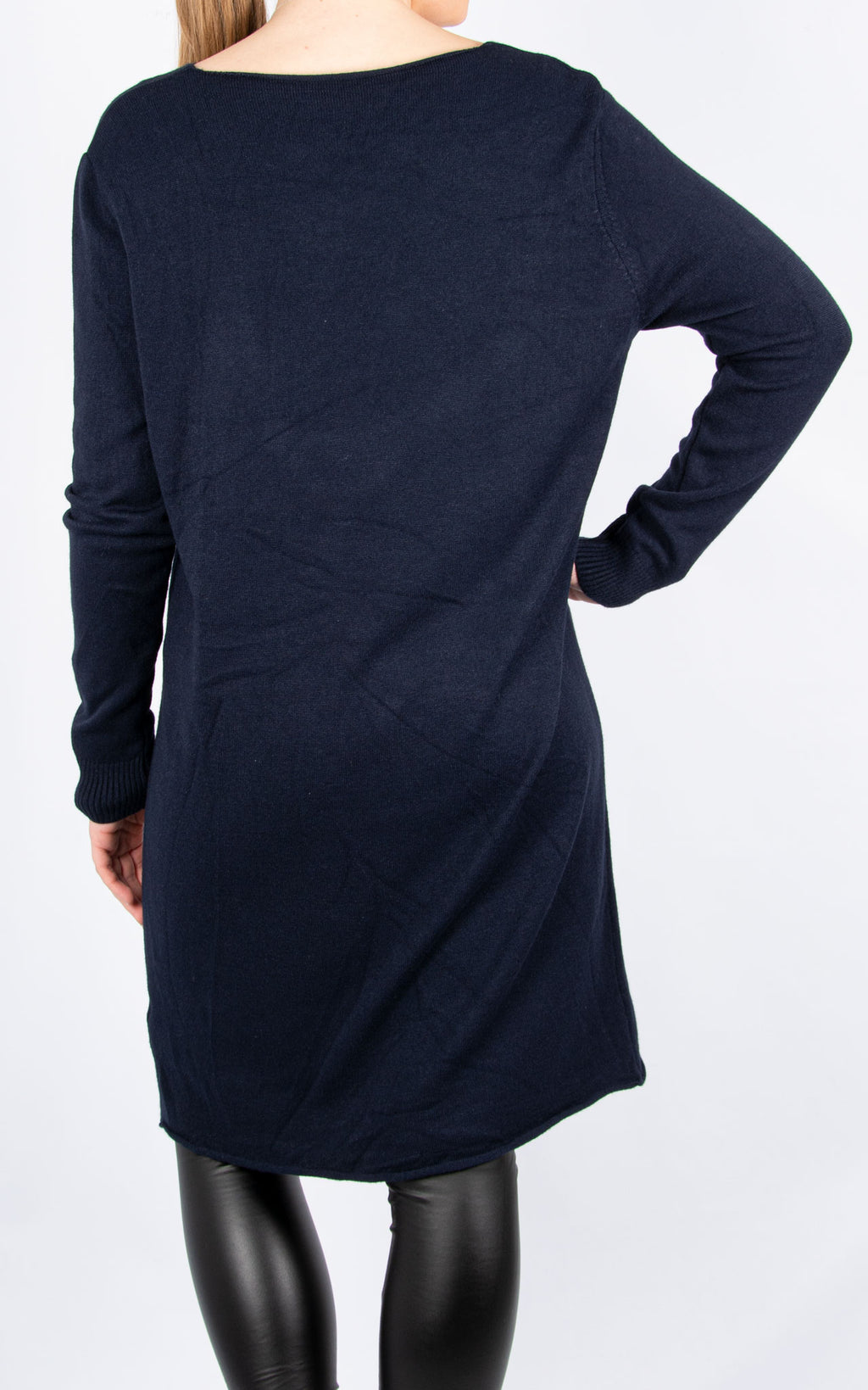 Simple Knit Dress | Navy