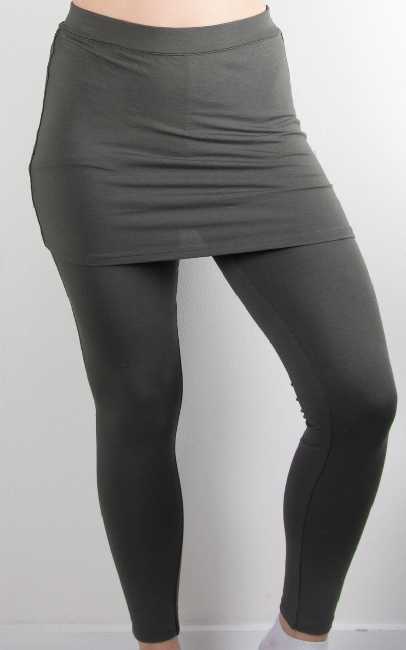 Skirt Leggings | Grey