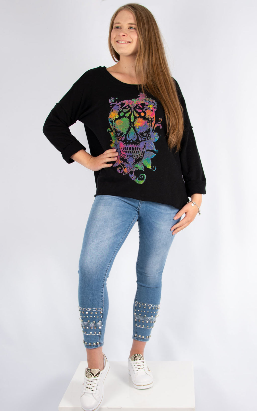 Skull Sweatshirt Black