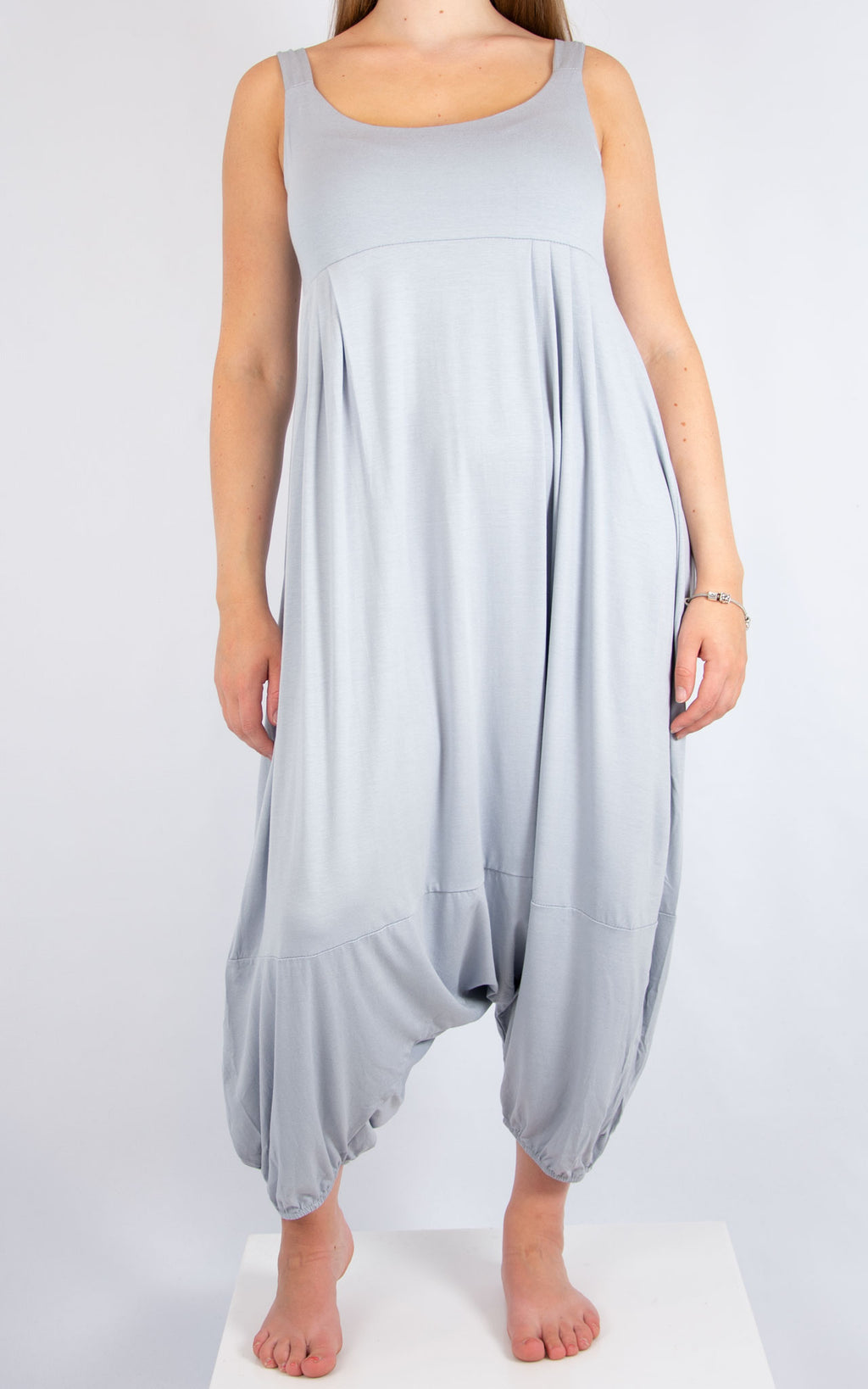 Light Grey Sleeveless Jumpsuit | Made in Italy
