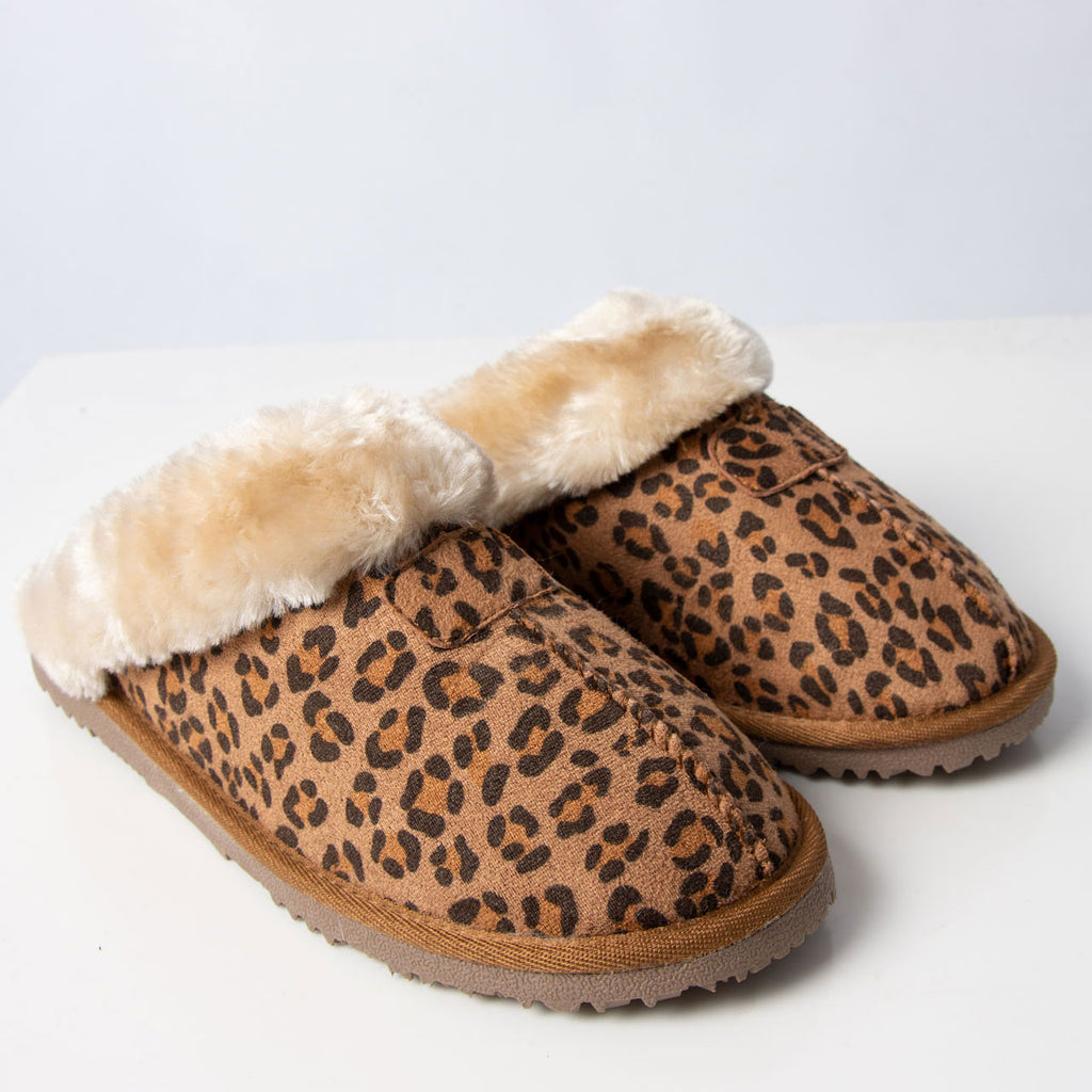 Slipper: Jill Leopard Tan