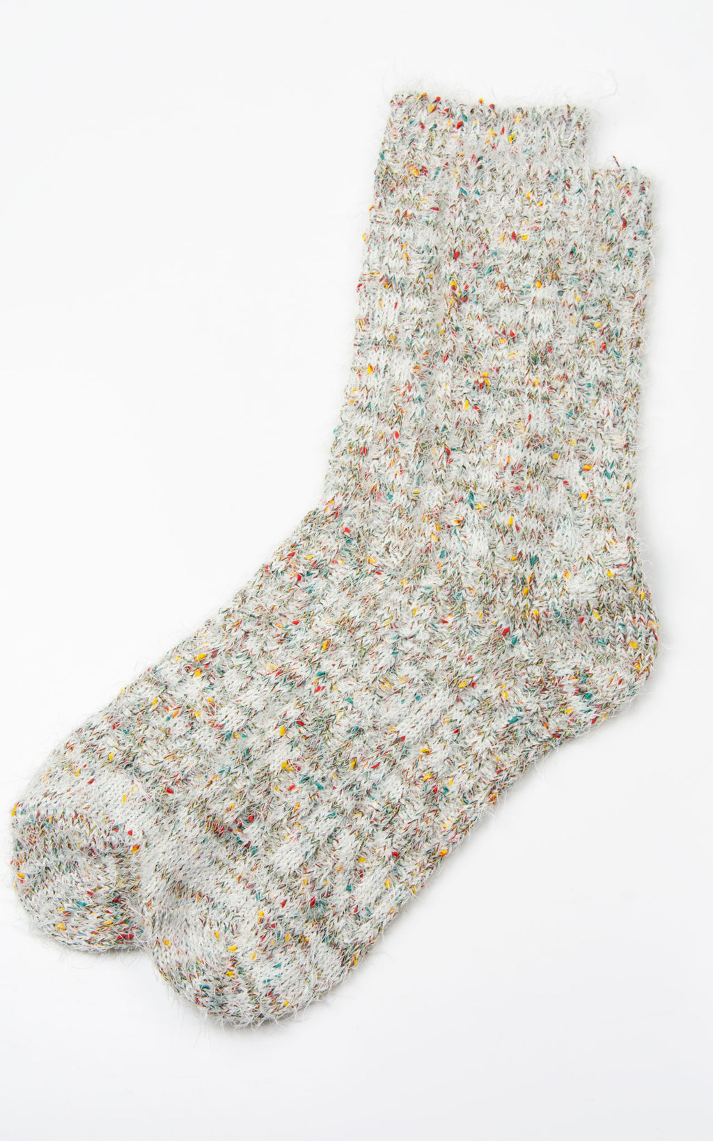 Socks: Multi Mix Woolly| White