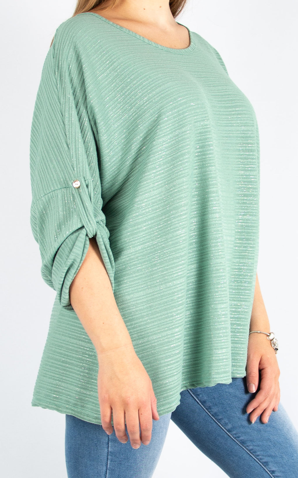 Green Button Up Sleeve | Made in Italy