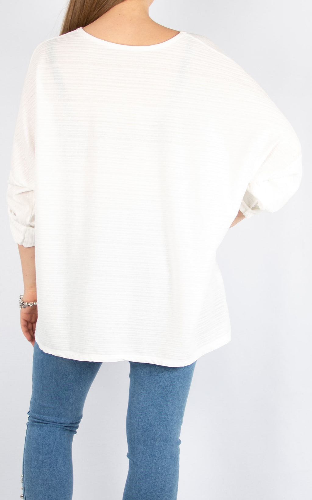 White Button Up Sleeve | Made in Italy