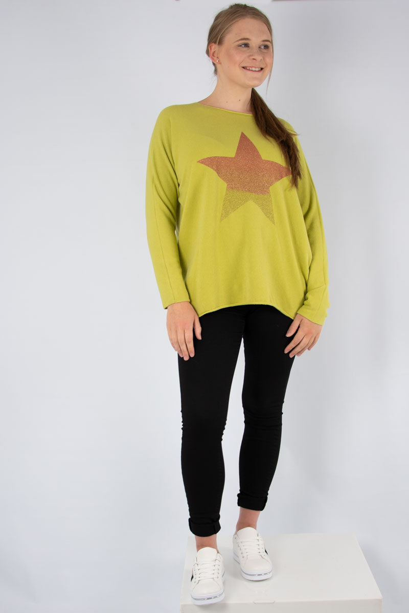 Lime Ombre Star Knit | Made in Italy