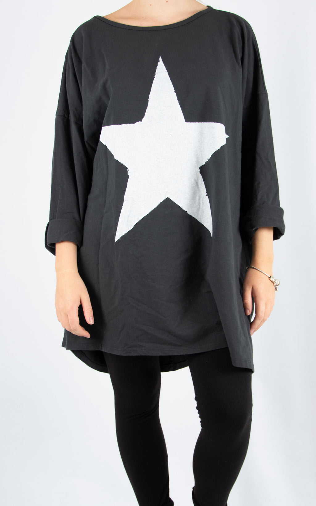 Kate Sweat | Charcoal Star Print